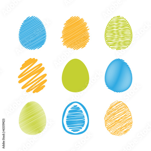 Set of easter eggs.