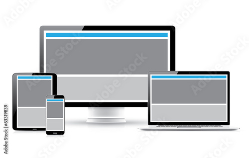 Website design development process vector illustration