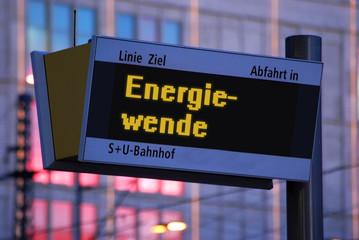Anzeigetafel 1 - Energiewende