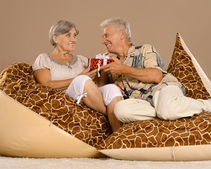 Couple with gift