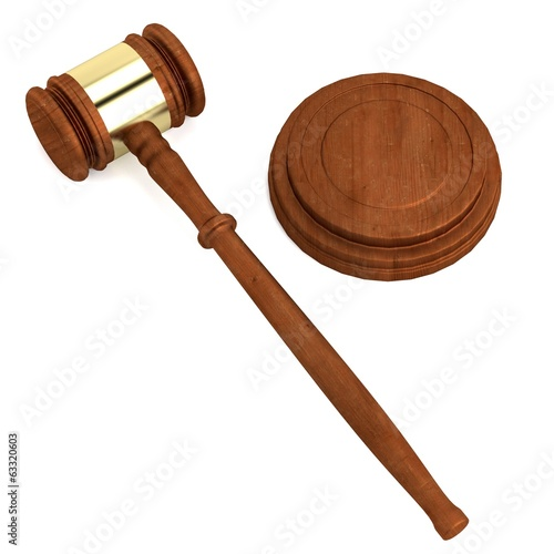 realistic 3d render of gavel