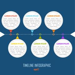 Simple flat design line infographic.