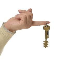 finger with keys