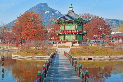 Gyeongbokgung Palace, Seoul, South Korea Poster