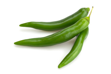 Three green chili