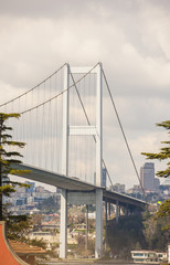Large suspension bridge support structure
