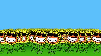 Sunflower Field (Cartoon)