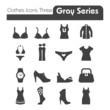 Clothes Icons Gray Series Three.