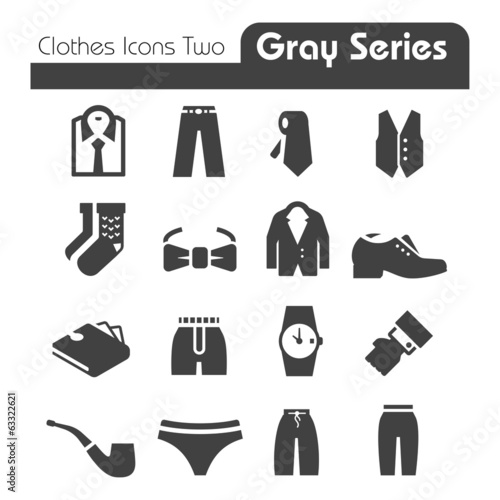 Clothes Icons Gray Series Two