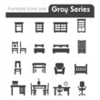 Furniture Icons gray series one