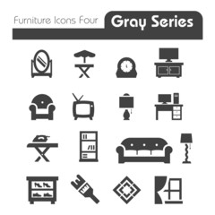 Furniture Icons gray series four