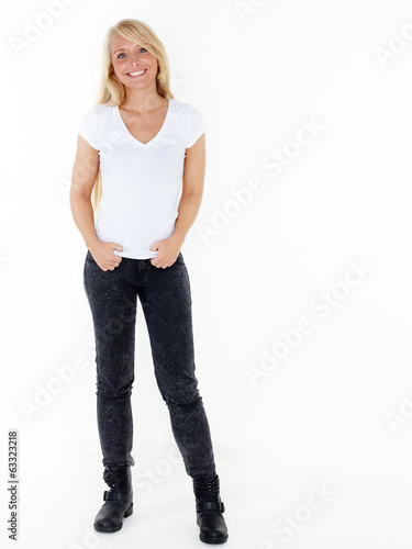Relaxed female student