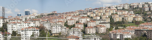 Panoramic view of urban housing district