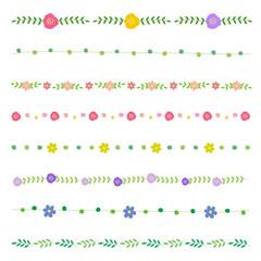 花のラインイラスト / vector eps