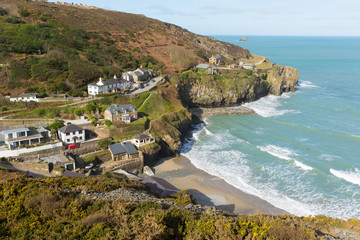 View of St Agnes North Cornwall England UK