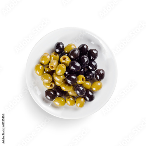 olive. isolated on white background