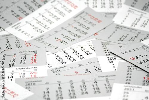 Leinwandbild Motiv Kalenderblätter