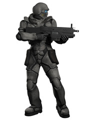 Space Marine Trooper with Heavy Rifle