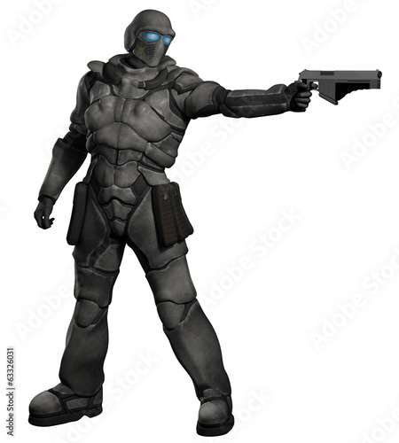 Space Marine Trooper with Pistol