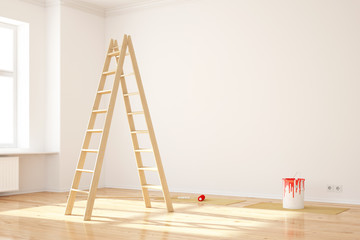 Wand in Wohnung streichen bei Umzug