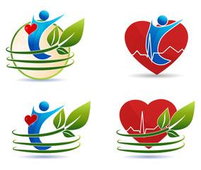 Human health care symbols, healthy heart concept