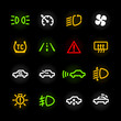 Car dashboard lights
