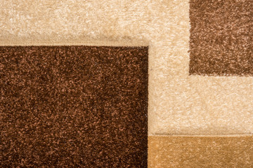 Carpet With Abstract Shapes Texture Macro