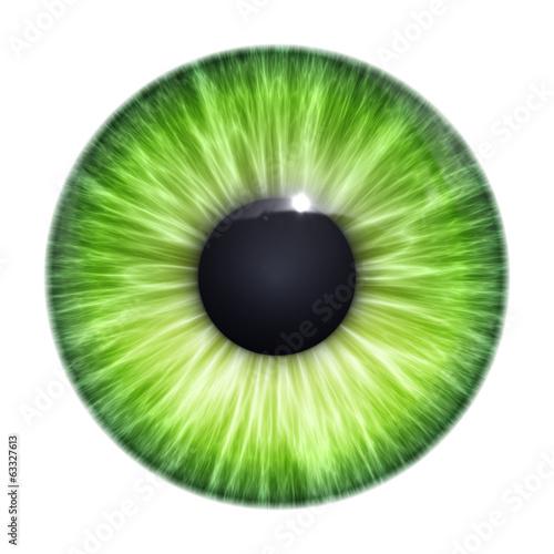 Staande foto Textures green eye texture
