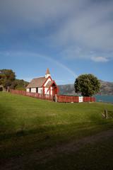 Nice Maori church in Akaroa south island New Zealand