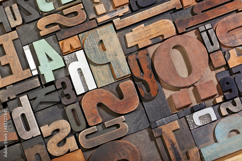 Vintage letterpress type background