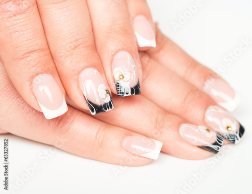 Beautiful female hands with manicure