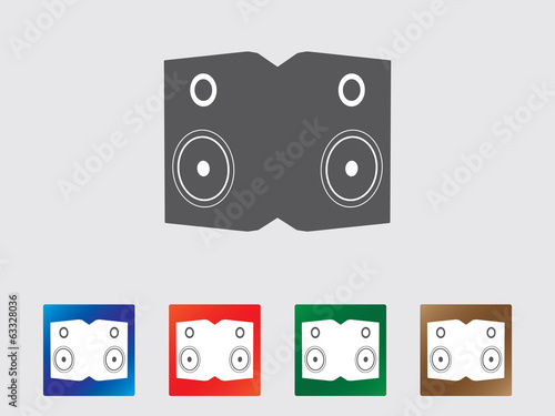Speakers icon collection