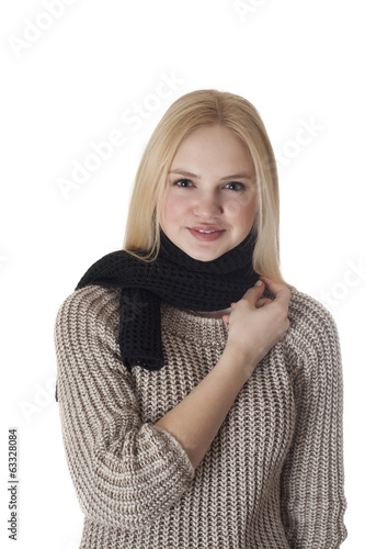 girl with a scarf