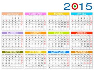 Calendario italiano 2015