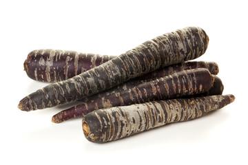 Purple Carrots isolated