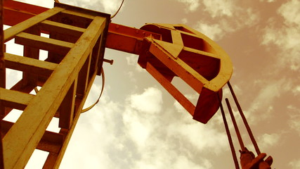 Pump jack - iconic symbol of oilfield