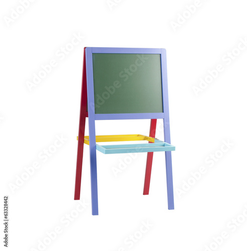 Colorful teaching board for kids isolated on white background