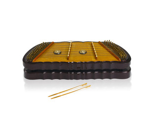 Thai wooden dulcimer musics string instruments