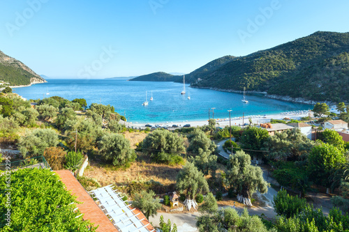 Lefkada coast beach  summer view (Greece)