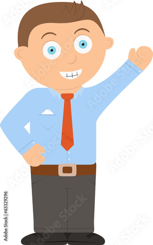 Business man cartoon character vector