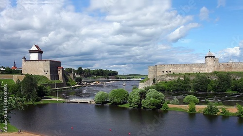 view fortress of Narva and Ivangorod fortress