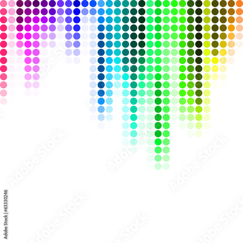 Abstract pixel mosaic gradient background