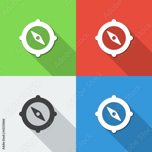 flat compass backgrounds