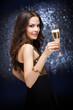 Champagne celebration.