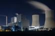 canvas print picture - Kraftwerk in der Nacht