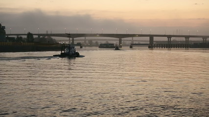 Early Morning Tugboats, Fraser River