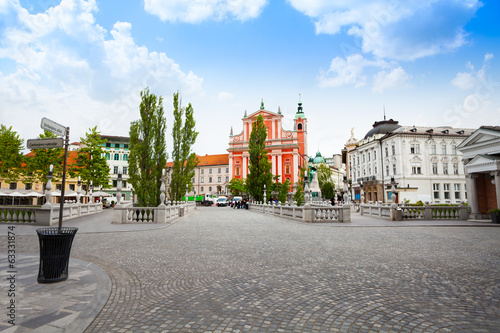Square in Ljubljana