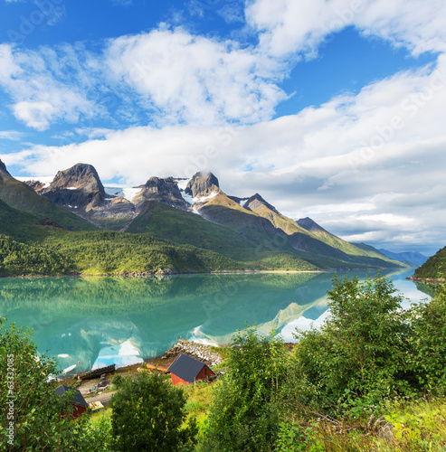 Lake in Norway - 63332085