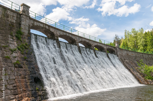 Fotobehang Dam Dam in Karpacz