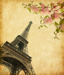 Eiffel Tower in spring time, Paris, France.